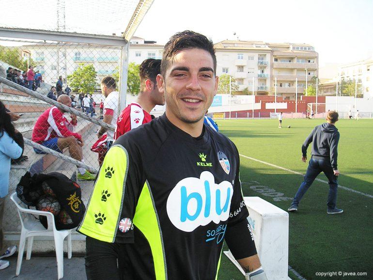 Pedro portero debutante con el CD Jávea