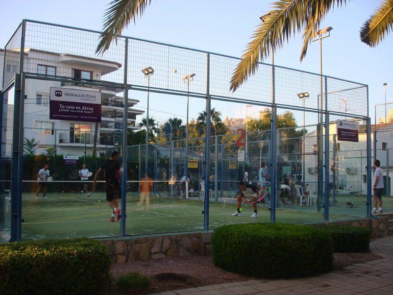 Pista de pádel del Club Tenis Jávea