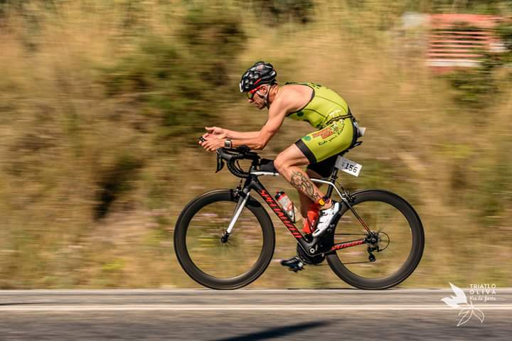 Raúl Molina en el triatló de Oliva