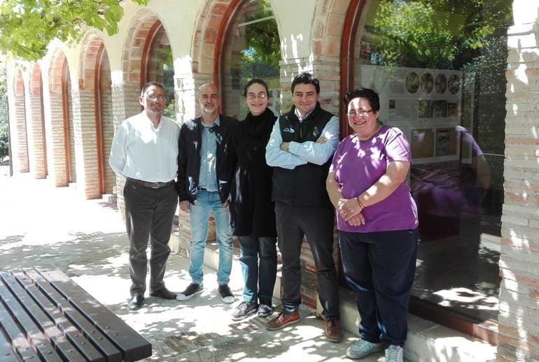 Silvestre con Scotto y el alcalde de Rotová Antonio García