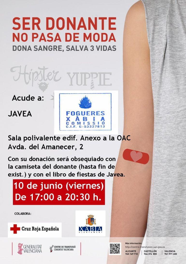 Cartel donación de Sangre Fogueres