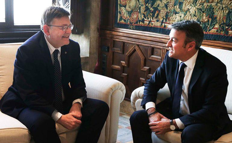 Encuentro entre Ximo Puig y José Chulvi