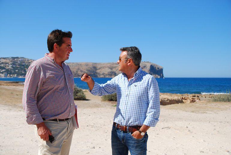 Herick Campos junto a José Chulvi en Xàbia