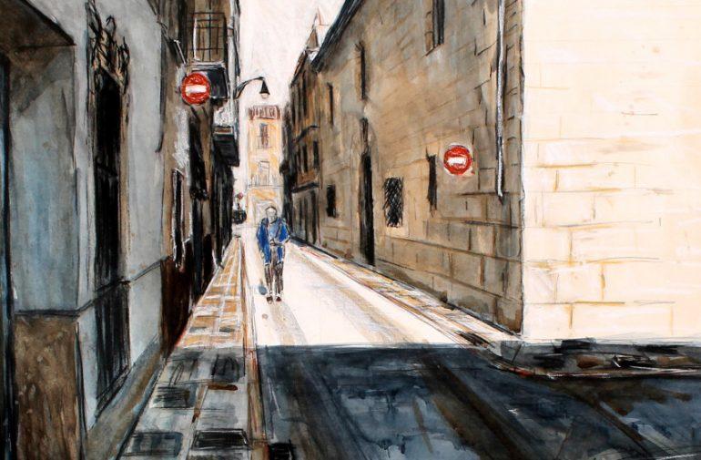 Uno de los cuadros del artista Josep Barceló