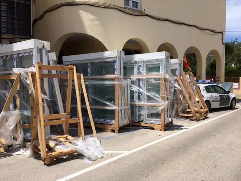Obras en el cuartel de la Guardia Civil de  Xàbia