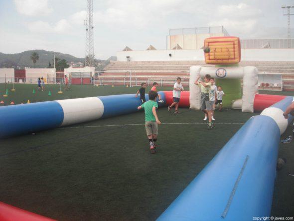 Pista de 3x3 en el Día del Deporte de Xàbia