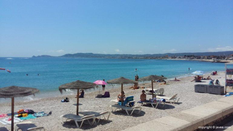 Playa de La Grava en junio