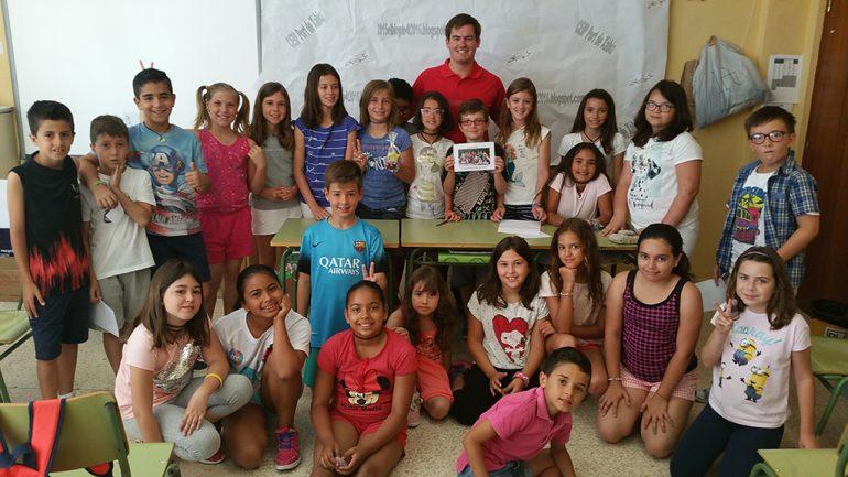 Rafa Andarias con los alumnos del Port de Xàbia