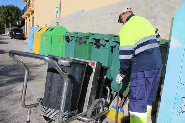 Recogida de resíduos en Poble Nou