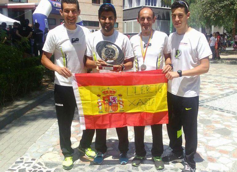 Subcampeones de España de Carreras de montaña con el CA Llebeig Xàbia