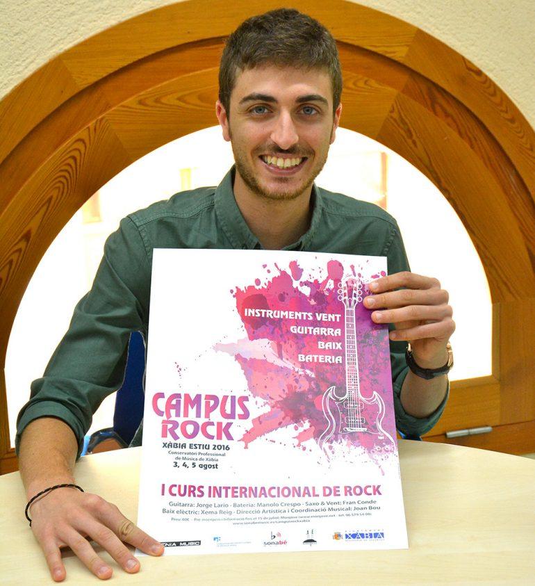 Ximo Segarra en la presentación del Campus de Rock