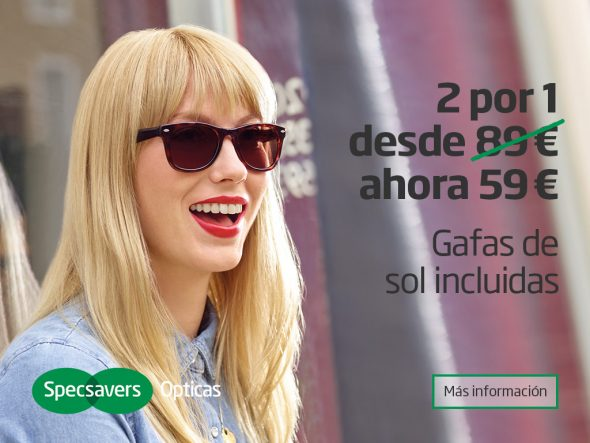 2 por 1 Specsavers Opticas