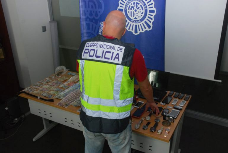 Botin recuperado por la Policia Nacional