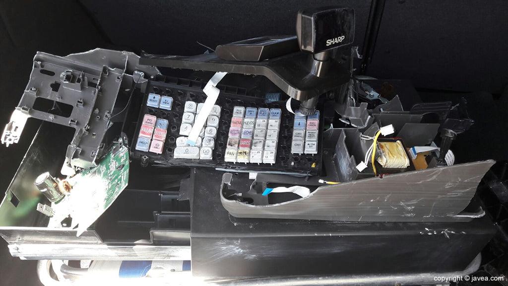 Caja registradora que se llevó el ladrón