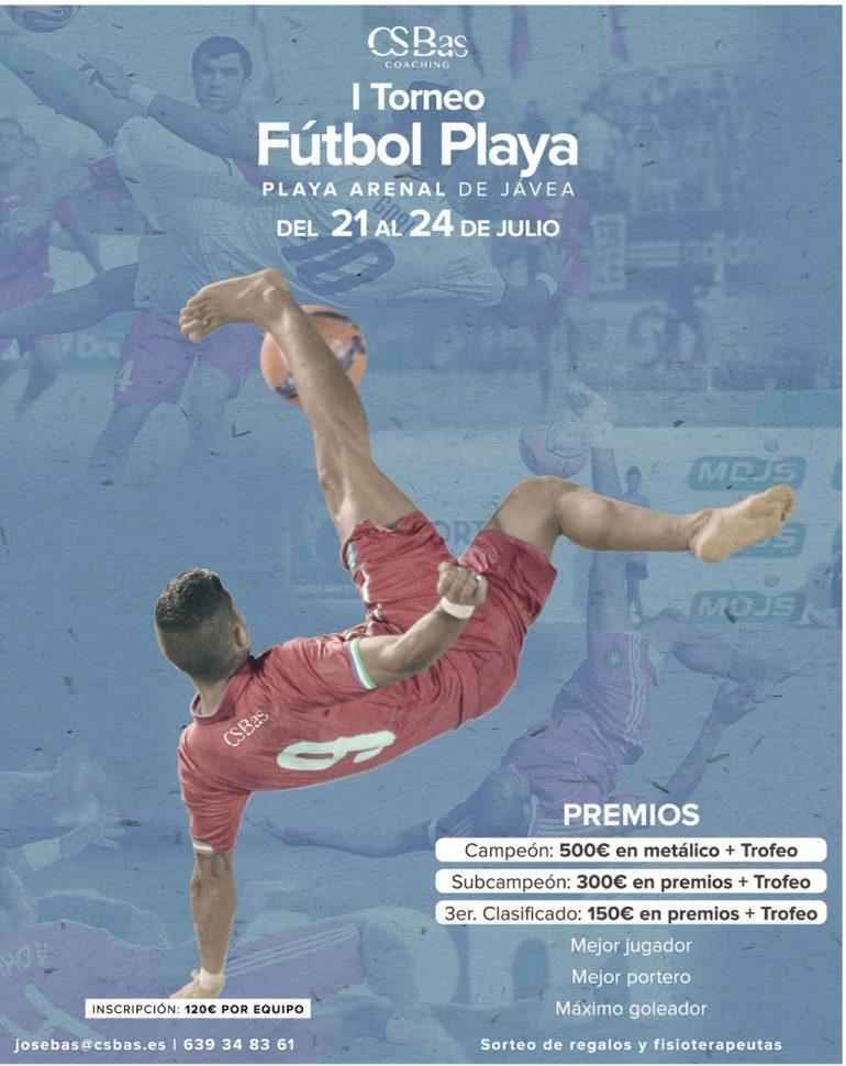Cartel Torneo Fútbol Playa Jávea