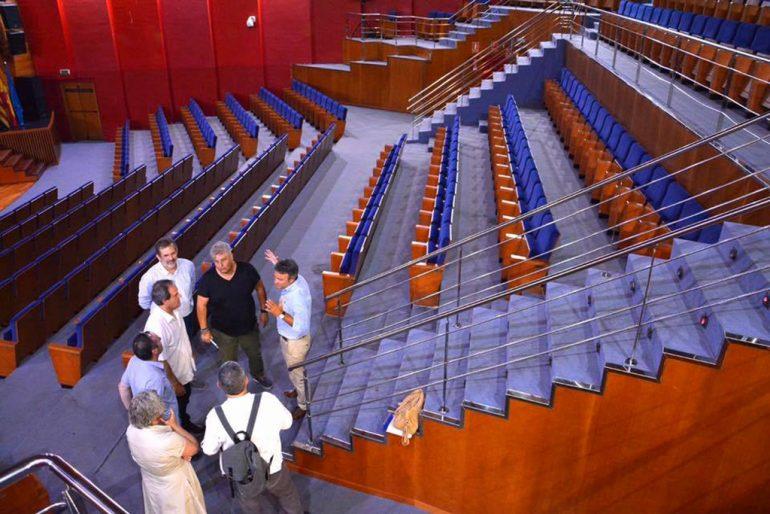 Chulvi y Moragues en el auditorio de Paiporta