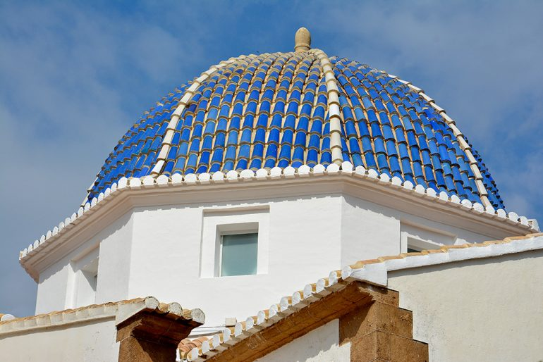 Cúpula de la ermita del Calvario tras su rehabilitación