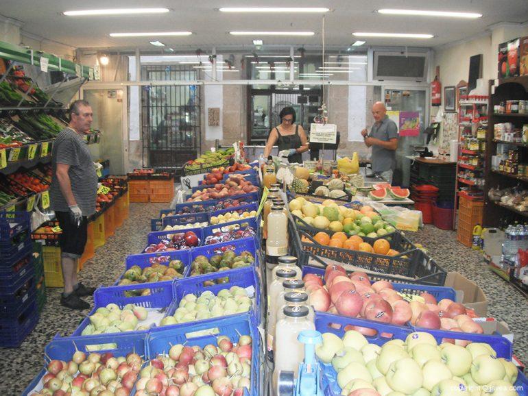 Fruta de la tienda de Rosendo
