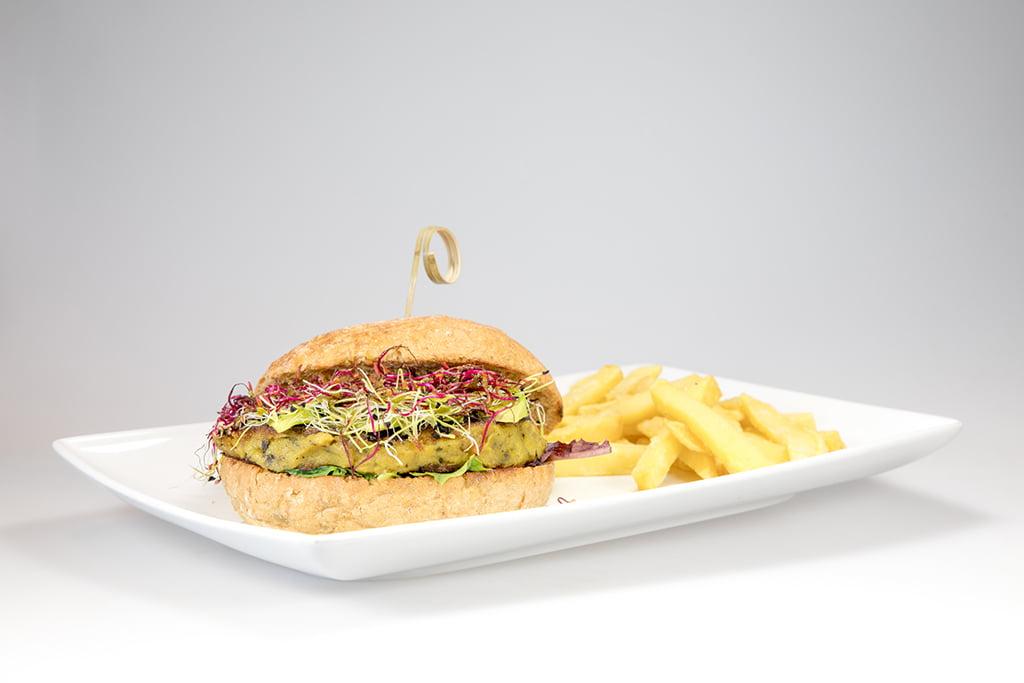 Hamburguesa vegana Restaurante Noray