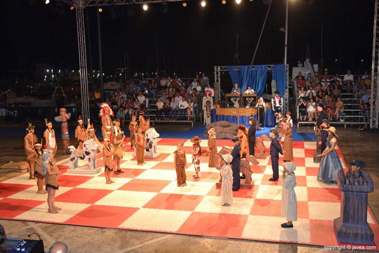 Partida del XIX Ajedrez Viviente de Xàbia
