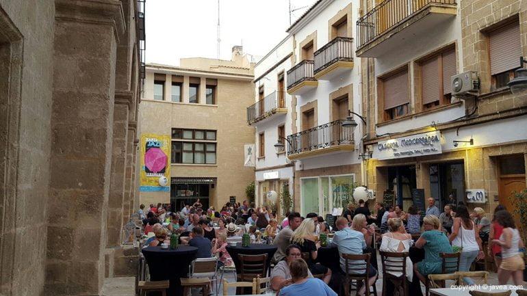 Terraza de un bar en Xàbia