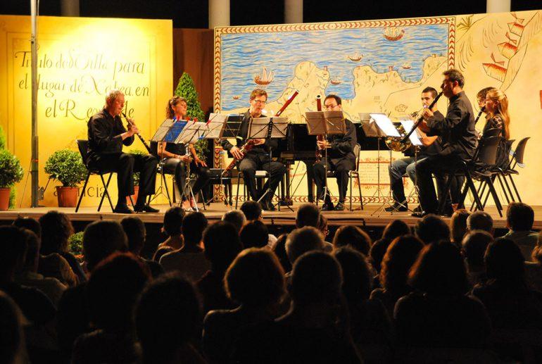 Una actuación de Música a l'estiu en Xàbia