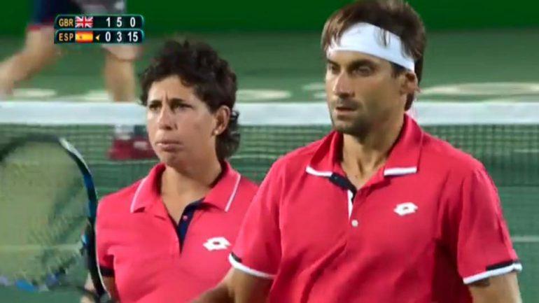 Carla Suárez y David Ferrer en los Juegos Olímpicos