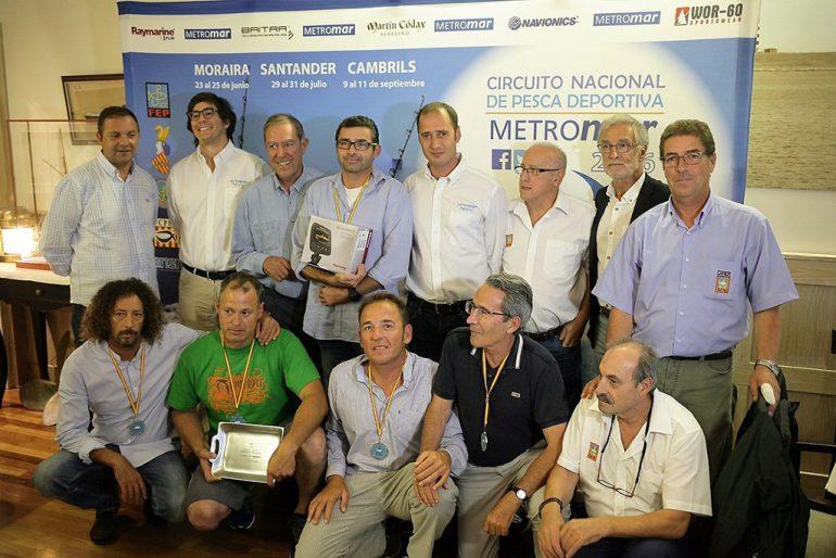 Entrega de trofeos en Santander