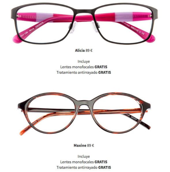 cf57bc2ad8 Take advantage of the 2 x 1 in glasses from 59 € in Optical Specsavers