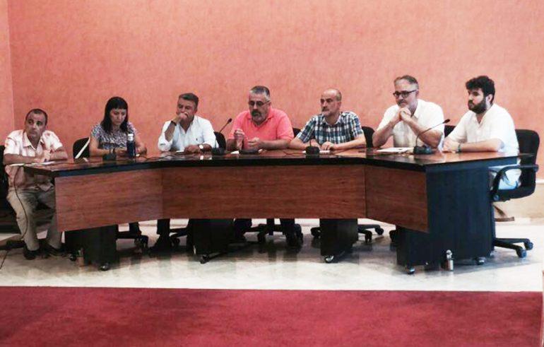 José Chulvi en la reunión de la Xarxa d'alcaldes de la Marina Alta