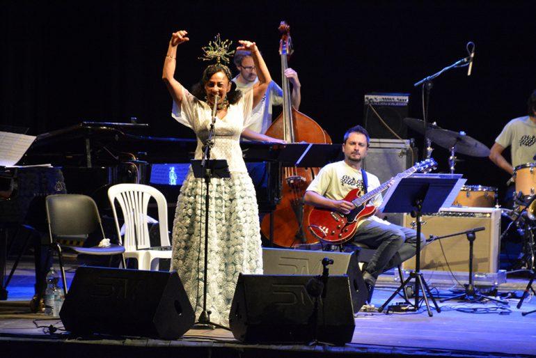 Maria Joao durante su concierto