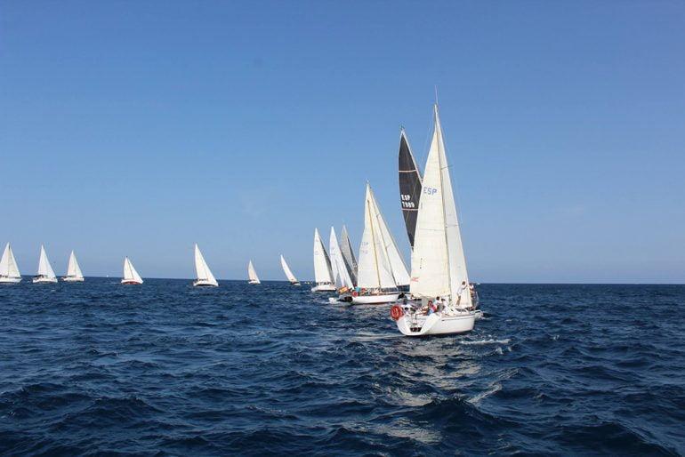 Momento de una de las pruebas celebrada en al bahía de Xàbia
