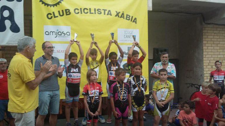 Podium del Trofeo Escuelas ciclistas Peña La Bufa