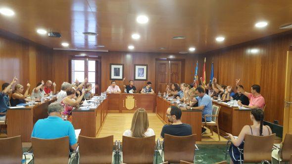 Momento de la votación del pleno