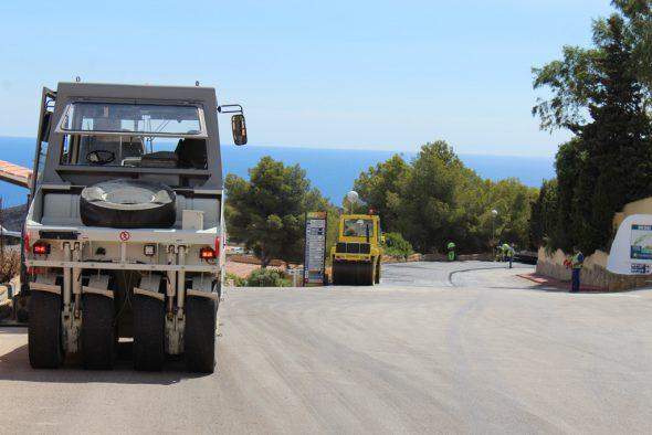Asfaltado de carreteras en Benitatxell