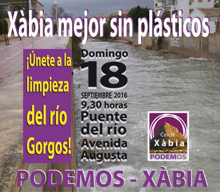 Cartel de limpieza del Río Gorgos