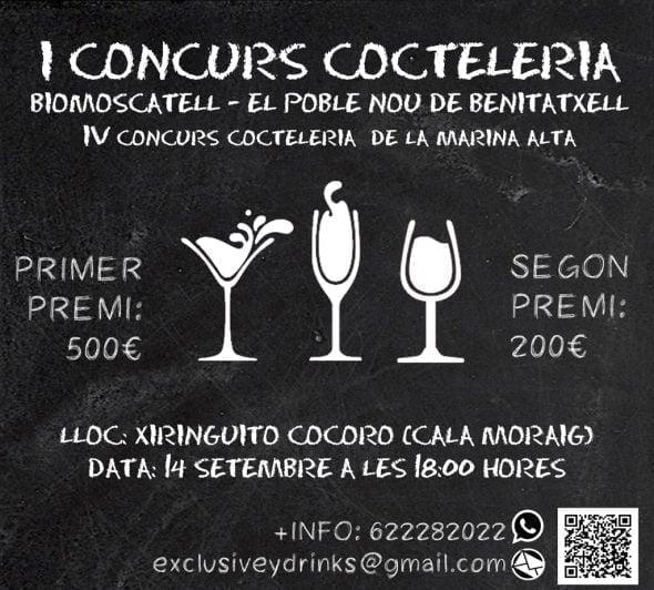 Cartel I concurso de cocteleria