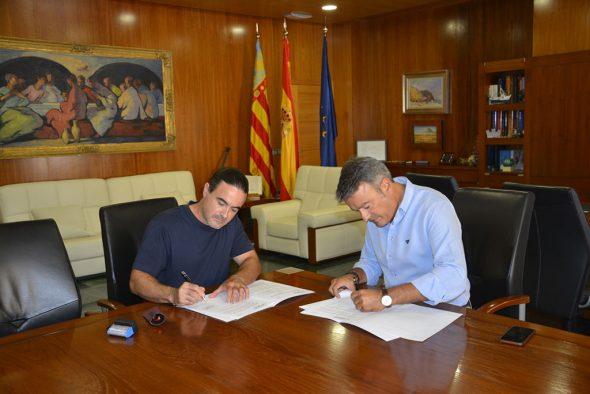Firma del convenio de Amjasa con IROX