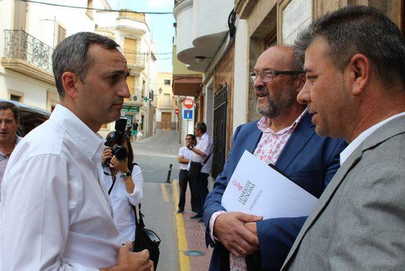 El presidente de la Diputación junto al alcalde poblero