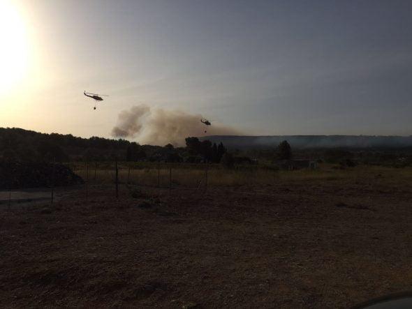 Incendio en Xàbia y Benitatxell