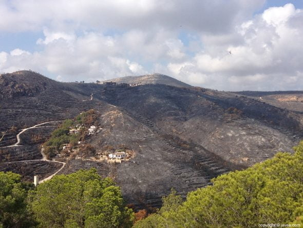 Incendio forestal La Granadella