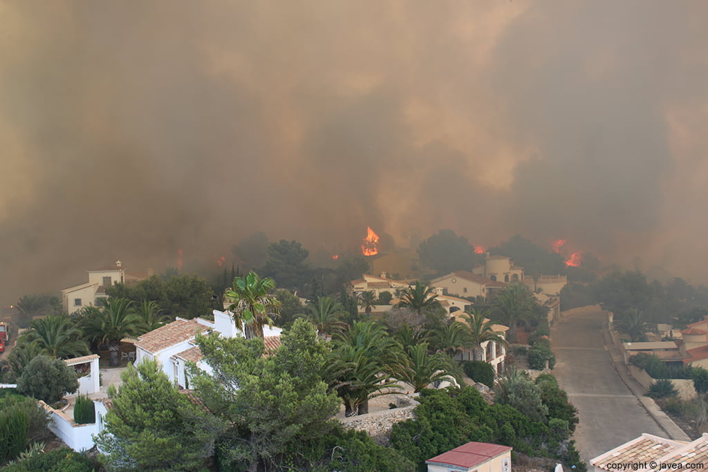 Incendio de Xàbia