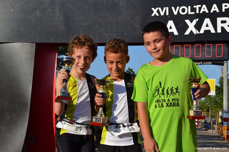 Marco García junto a Iván Gómez y Lucas Ribes