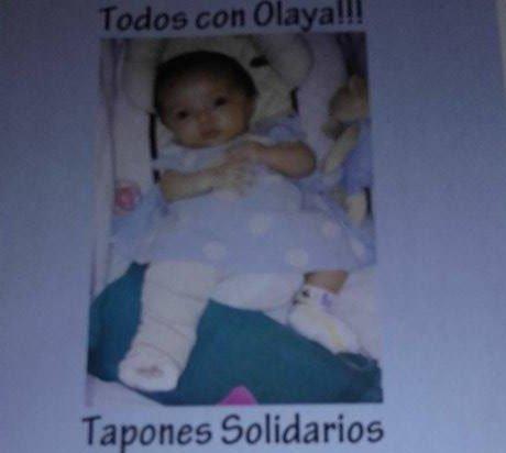 Tapones solidarios para Olaya