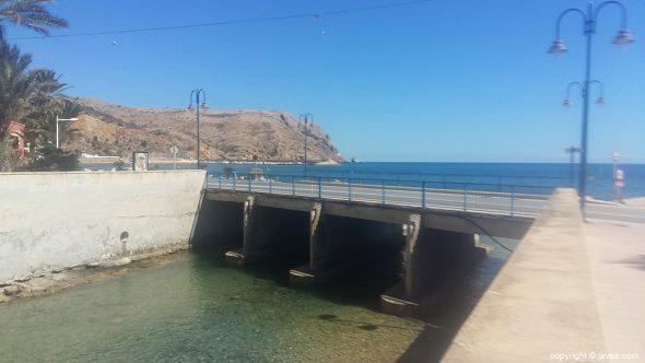 Puente de Triana, desembocadura del río Gorgos