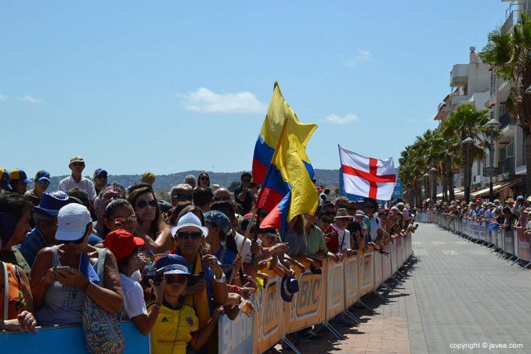 Seguidores colombianos en la salida