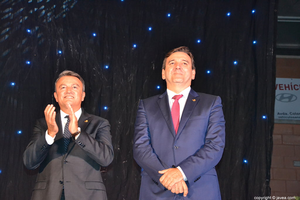 El alcalde de Xàbia y el concejal de fiestas
