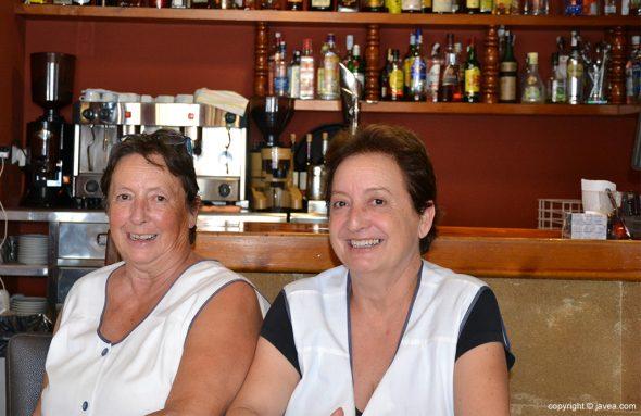 Ana y Cuqui, gerentes del Restaurante Bahía