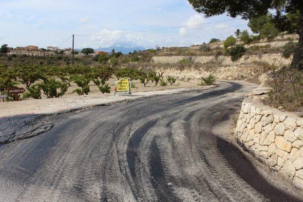 Obras de asfaltado en Benitatxell