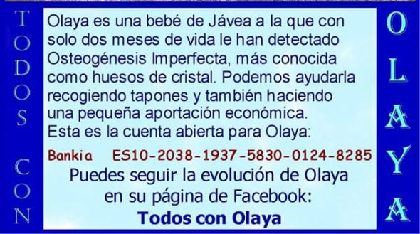 Cuenta bancaria a favor de Olaya